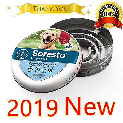 Seresto flea and tick collar for large dogs over 18 Ibs New 2019 Free Shipping