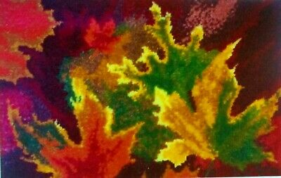"""LATCH HOOK RUG  KIT  """" AUTUMN LEAVES RUG"""" by Mary Maxim  UK seller"""