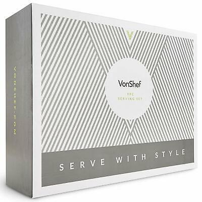 Vonshef 9pc Serving Set Slate Serving Board Spoons for Cheese Tapas Dips BNIB