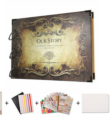 Story Album for Gifts and Wedding Guest Vintage Scrapbook Romantic Unique Box