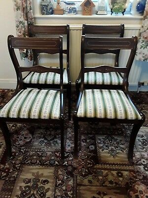 Set of 6 Reprodux Mahogany Dining Chairs - 4 Single and Pair of Carver Armchairs