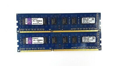 Kingston 8GB (2x4Gb) PC3-10600 DDR3-1333Hz Desktop Memory KTL-TCM58B/4G