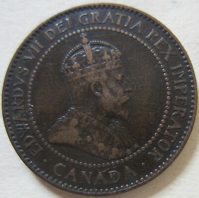 1904 Canada Large Cent Coin. NICE GRADE (RJ496)