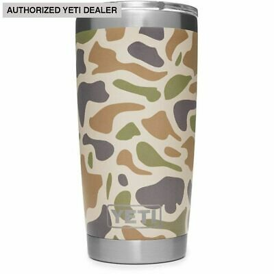 YETI Rambler 20 oz Stainless Steel Vacuum Insulated Tumbler w/MagSlider Lid Camo