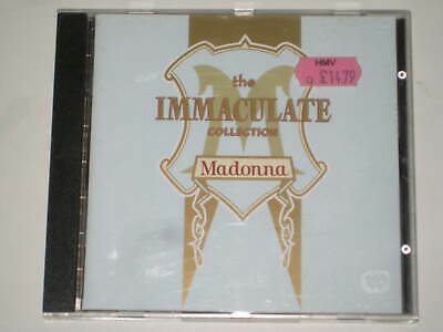 Madonna-The Immaculate Collection Greatest Hits Cd 1990 Vogue Cherish Rescue Me