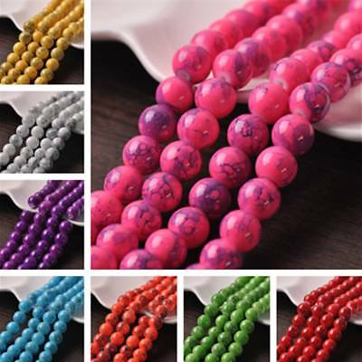 Wholesale 10mm Round Spots Coated Opaque Glass Loose Craft Beads Jewelry Making