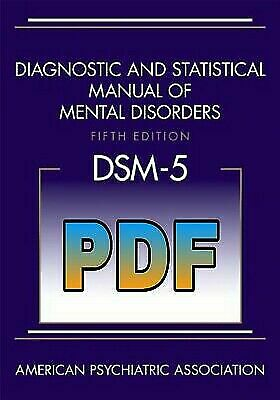 Diagnostic and Statistical Manual of Mental Disorders, 5th Edition --EB00K---PDF