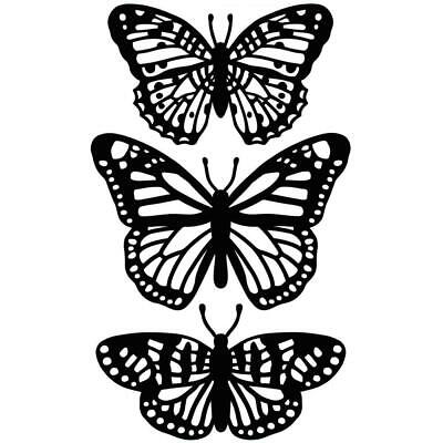 Darice Embossing Folder A2 Butterfly Trio