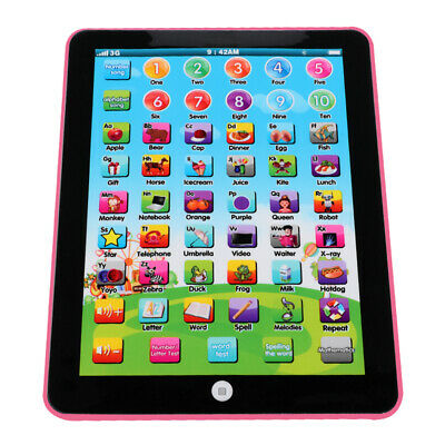 1x Pink Mini Learning iPad Toy Early Learning Tablet Machine For Kids