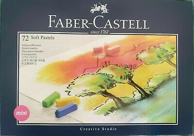 *Faber-Castel FC128272 Creative Studio Soft Pastel Crayons 72 Pack, Assorted NEW