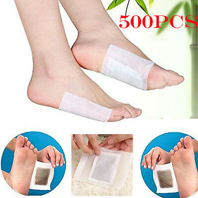 500PCS Health Care Remedy Detox Foot Pads Detoxify with Adhesive Tape Toxins