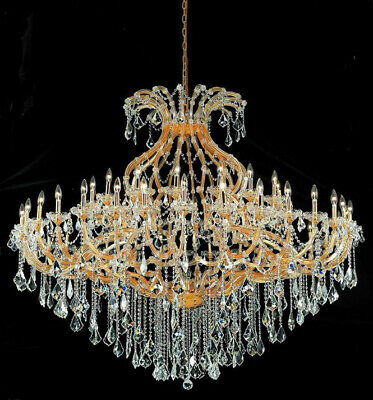 "49 Light 72"" Large Maria Theresa Asfour Crystal Dining Room Foyer Chandelier"