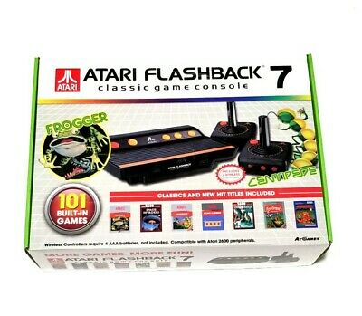 Atari Flashback 7 Classic Game Consoles with Wired Joystick Controllers - Black