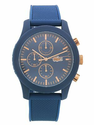 Lacoste Men's 12.12 Silicone Strap Blue Dial Water Resistant Watch