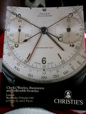 Christies Catalogue Fine Clocks,Watches,Barometers Collectable Swatches,1991