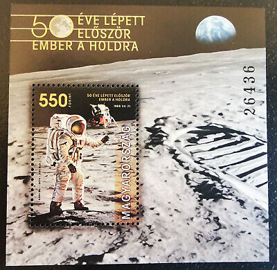 Hungary 2019. Space - member on the Moon 50. anniversary sheet MNH (**)
