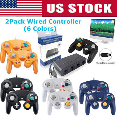 🔥2Pack Wired NGC Controller Gamepad for Nintendo- GameCube GC & Wii- Console