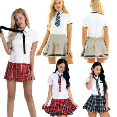 Women Outfit Japanese High School Girl Uniform Dress Halloween Costume Role Play