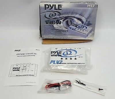 PYLE PLV2 In-Car 1 Into 4 Mobile Video Signal Distribution Amplifier NOS#