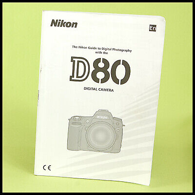 Nikon Instruction Manual Booklet D80 Digital SLR