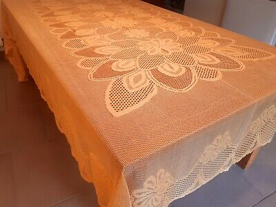 Rectangle X-Wide170*300cm Gold Lace Polyester Tablecloth