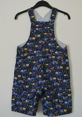 New Ex  Jojo Maman Bebe Boys Size 3 Months - 3 Years Old Tractor Baby Dungarees