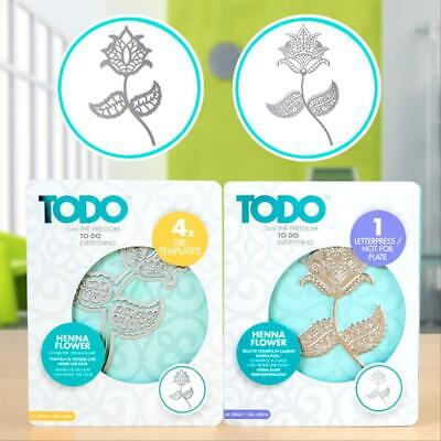 Todo Henna Flower Bundle  Includes Die & Matching Hotfoil Plate
