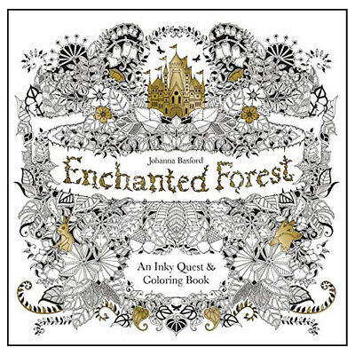 Enchanted Forest: An Inky Quest & Colouring Book NEW