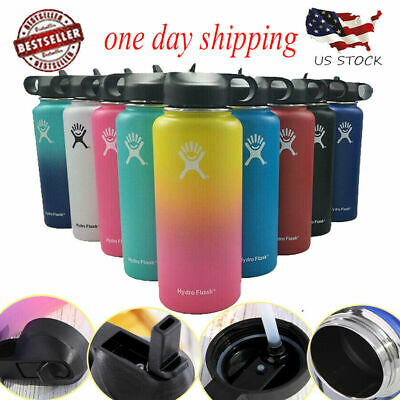 32/40oz Hydro Flask Insulated Wide Mouth Stainles Steel Watter Bottle With Straw