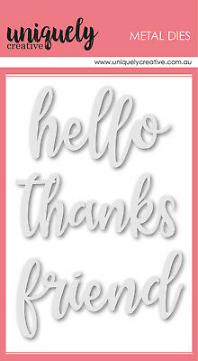 Uniquely Creative Die Hello Friend Script  3pc Set