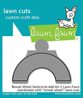 Lawn Fawn Lawn Cuts Die Reveal Wheel Semicircle Add-On