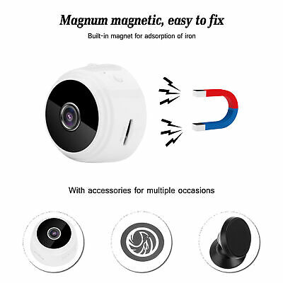 Mini Spy IP Hidden Camera WiFi Wireless HD 1080P Network Monitor Security Cam