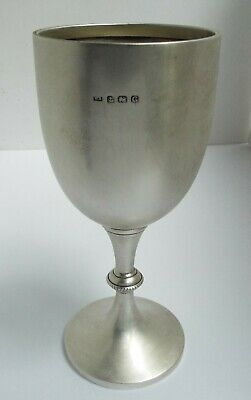 Beautiful Condition Large Heavy English Antique 1931 Sterling Silver Wine Goblet