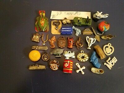 Vintage Gumball/Vending/Dime Store Charms/Toys Lot Of 33