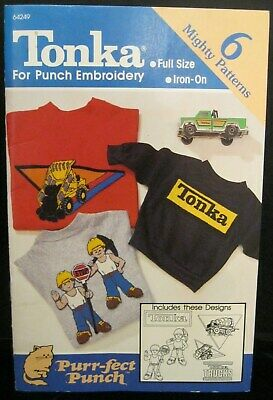 Tonka Iron On 6 Might Patterns For Punch Embroidery Purr-Fect Punch Brand New!
