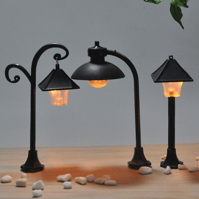 1pc street lights craft figurine garden ornament miniature fairy garden decor B.