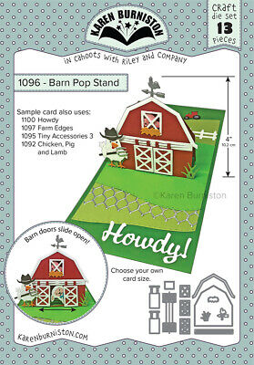 Karen Burniston Die Barn Pop Stand  13pc Set
