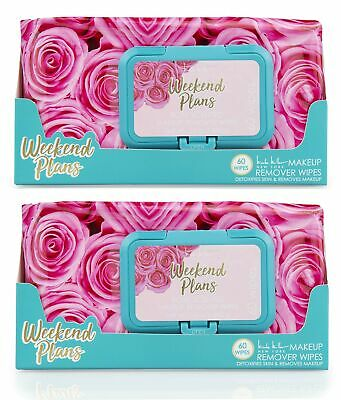 Nicole Miller 2 Pack (60 Count Each) Rose Scented Weekend Plans Facial Cleans...