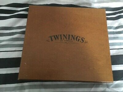 Large Twinings Luxury Wooden 12 Compartment Tea Chest Caddy Box