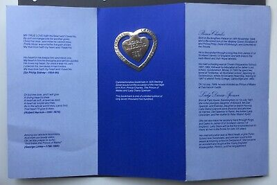 Original Choice Col Charles and Diana Wedding Leather Bookmark By Charles Letts
