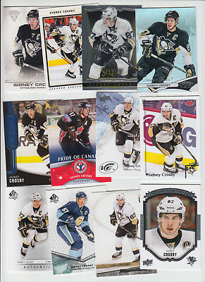 Sidney Crosby 18-Card Lot Mirror Hot Box Ud Spa Select Titanium Heroes Ice