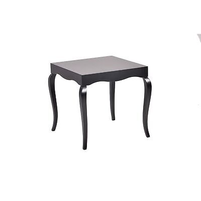 Victor Black Lacquer Side Table Black