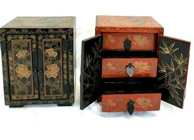 Antique Chinese Wooden Handmade Jewelry Box