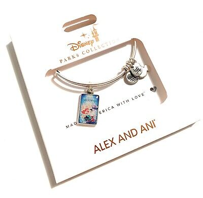 Disney Parks Ariel Little Mermaid 30th VHS Case Alex Ani Silver Bracelet NEW