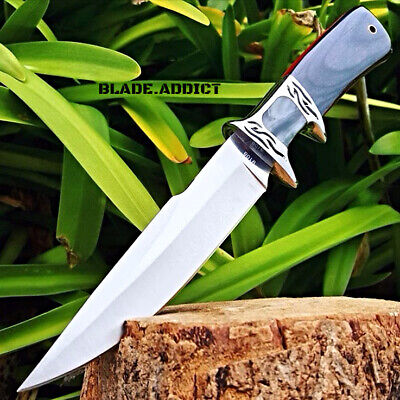 """10.25"""" Wood Hunting Survival Skinning Fixed Blade Knife Full Tang Army Bowie -T"""