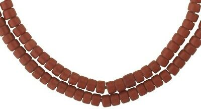 African trade beads old Bohemian Czech glass beads tile strand necklace Ghana