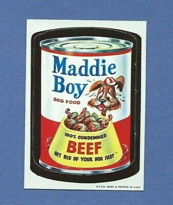 Wacky Packages Die Cut # 36 Maddie Boy Nm/Nm+