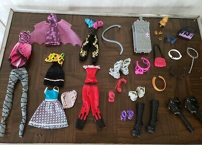 EVER AFTER HIGH & Monster High doll clothes a  Shoes nice sets  ect