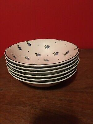 6 Johnson Brothers English Ironstone Berries Pattern Cereal Bowls