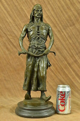 CLEARANCE SALE Real Genuine Bronze Sculpture of Middle Eastern Man Statue Figure
